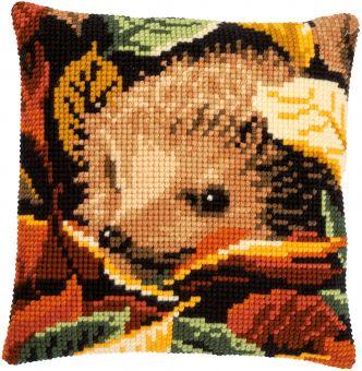 Vervaco Cross Stitch Cushion - CROSS STITCH CUSHION KIT HEDGEHOG