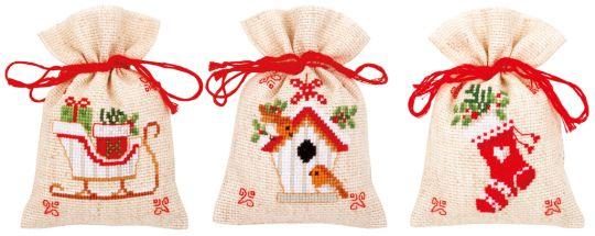 Potpurri Bag - CHRISTMAS MOTIF  set of 3