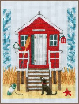 Vervaco - COUNTED CROSS STITCH KIT BEACH CABIN