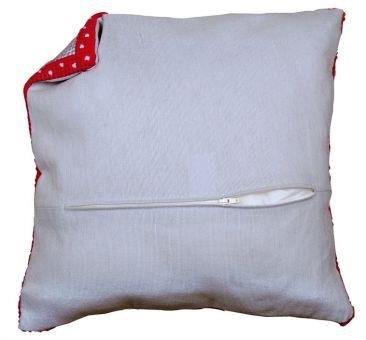 Vervaco - Cushion backs with zipper 45 x 45 cm grey 2x Cushion backs