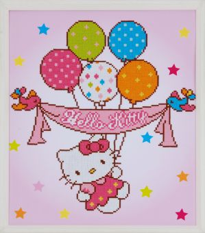 Diamond Painting by Vervaco - HELLO KITTY WITH BALLOONS