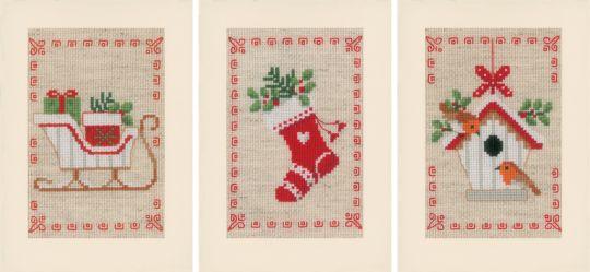 Vervaco - PN-0178342 Grußkartenset Weihnachten