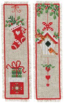 Vervaco - Lesezeichen Set CHRISTMAS MOTIF