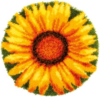 Vervaco - LATCH HOOK SHAPED RUG KIT SUNFLOWER