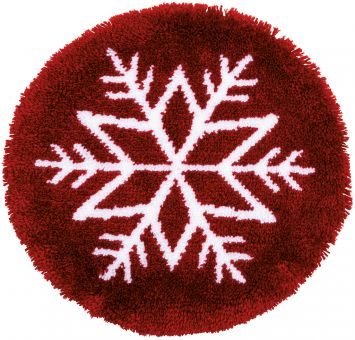 Vervaco - LATCH HOOK SHAPED RUG KIT ICE STAR
