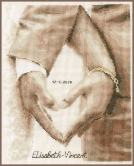 Vervaco - COUNTED CROSS STITCH KIT HEART OF THE NEWLYWEDS
