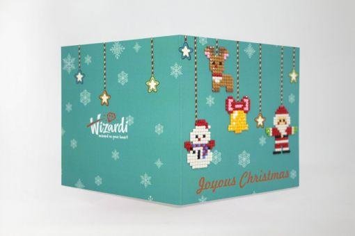 Wizardi Diamond Painting Grußkarte - JOYOUS CHRISTMAS