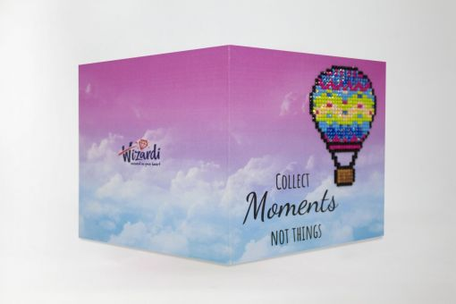 Super SALE Wizardi Diamond Painting greeting card - COLLECT MOMENTS, NOT THINGS