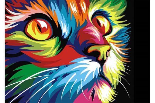 Diamond Painting Wizardi - RAINBOW CAT