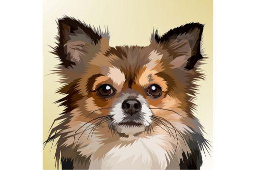 Diamond Painting Wizardi - DOG PORTRAIT