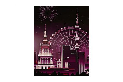 Diamond Painting Wizardi - NIGHT TOWER