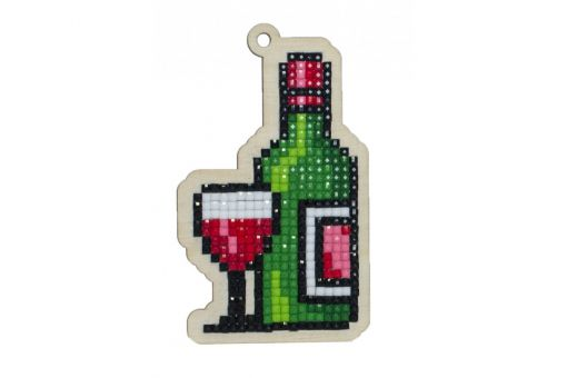 Diamond Painting Wizardi Wood Charms - WINE
