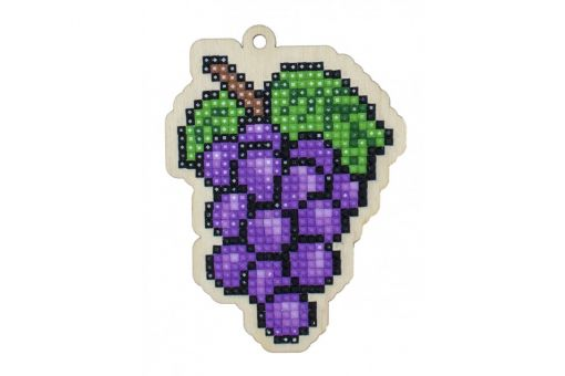 Diamond Painting Wizardi Wood Charms - GRAPES