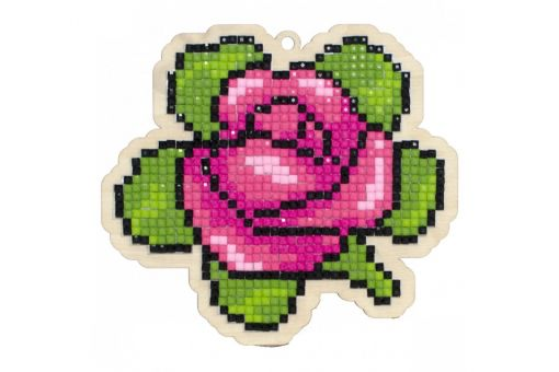 Diamond Painting Wizardi Wood Charms - AROMATIC ROSE