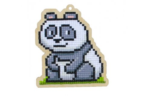 Diamond Painting Wizardi Wood Charms - PANDA CHUCKIE