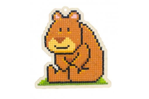 Diamond Painting Wizardi Wood Charms - Bear