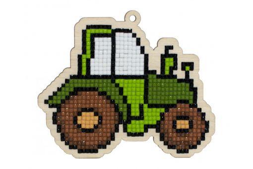 Diamond Painting Wizardi Wood Charms - Tractor