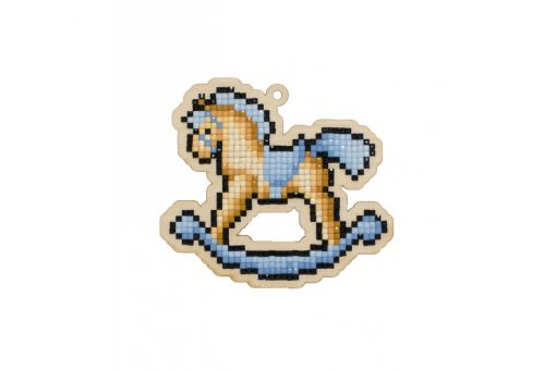 Diamond Painting Wizardi Wood Charms - ROCKING HORSE