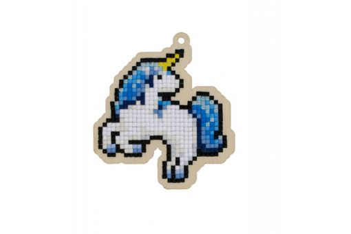 Diamond Painting Wizardi Wood Charms - BLUE UNICORN