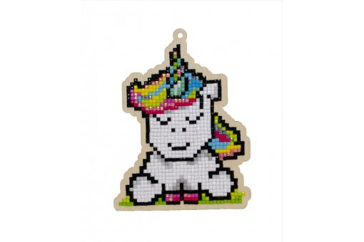 Diamond Painting Wizardi Wood Charms - RAINBOW UNICORN