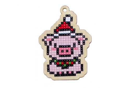 Diamond Painting Wizardi Wood Charms - NEW YEAR PIGGY