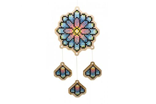 Diamond Painting Wizardi Wood Charms - DREAMCATCHER - KALEIDOSCOPE