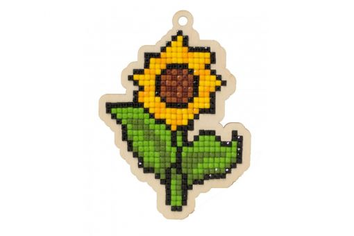 Diamond Painting Wizardi Wood Charms - SUNFLOWER