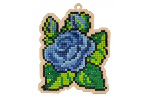 Diamond Painting Wizardi Wood Charms - BLUE PETALS
