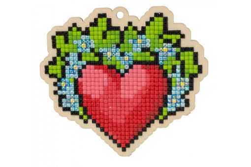 Diamond Painting Wizardi Wood Charms - HEART