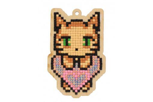 Diamond Painting Wizardi Wood Charms - CAT'S LOVE