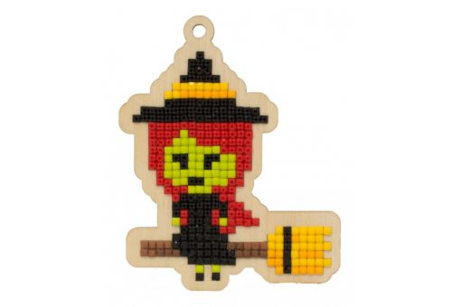 Diamond Painting Wizardi Wood Charms - LITTLE WITCH