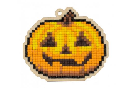 Diamond Painting Wizardi Wood Charms - JACK-O'-LANTERN