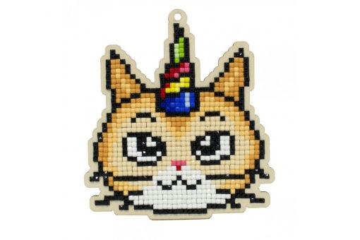 Diamond Painting Wizardi Wood Charms - HOLIDAY CAT