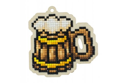 Diamond Painting Wizardi Wood Charms - BEER MUG