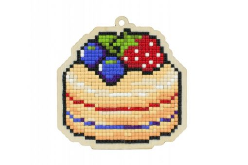 Diamond Painting Wizardi Wood Charms - CAKE