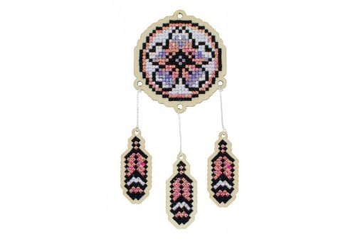 Diamond Painting Wizardi Wood Charms - DREAMCATCHER - ORCHID
