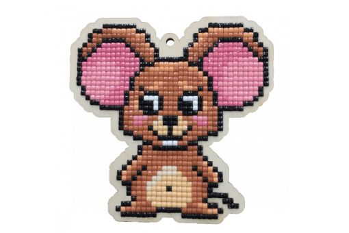 Diamond Painting Wizardi Wood Charms - LITTLE MOUSE