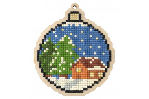 Diamond Painting Wizardi Wood Charms - NEW YEAR BALL