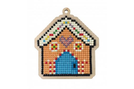 Diamond Painting Wizardi Wood Charms - GINGERBREAD HOUSE