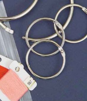 Metallring für Bobbins und Beutel 3,8 cm Durchmesser
