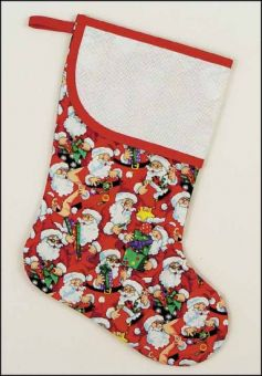 Ruby Large Stocking with Santa