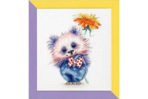 Zolotoje Runo - PANDA WITH FLOWER
