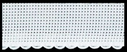 Zweigart Cross stitch band white 2 meter