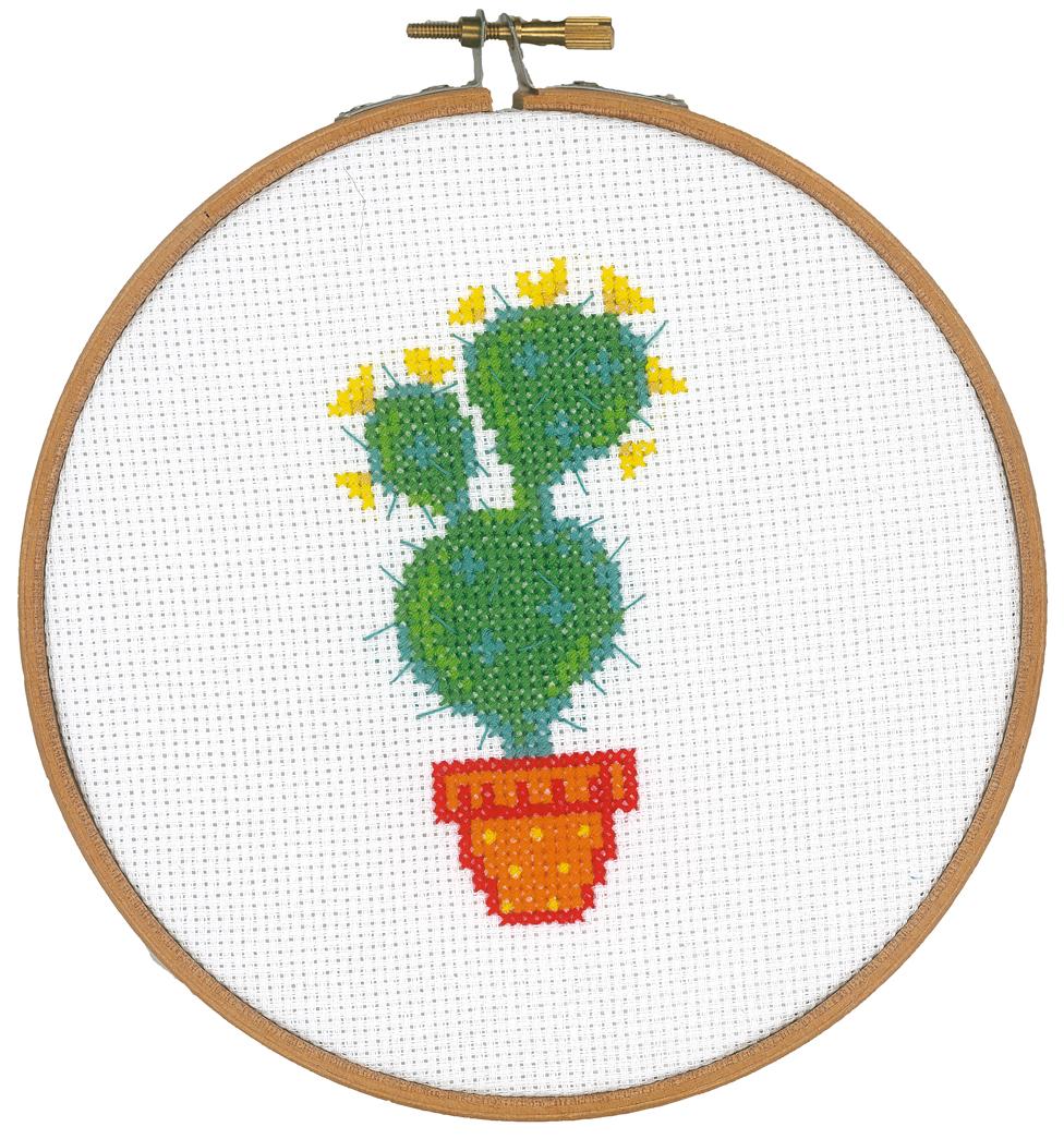 Cross Stitch Corner | Vervaco - mit Stickrahmen Kaktus 3