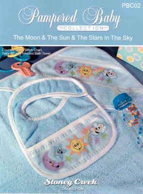 MOON /& STARS ~ CROSS STITCH CHARTS ~ NEW ITEM SUN