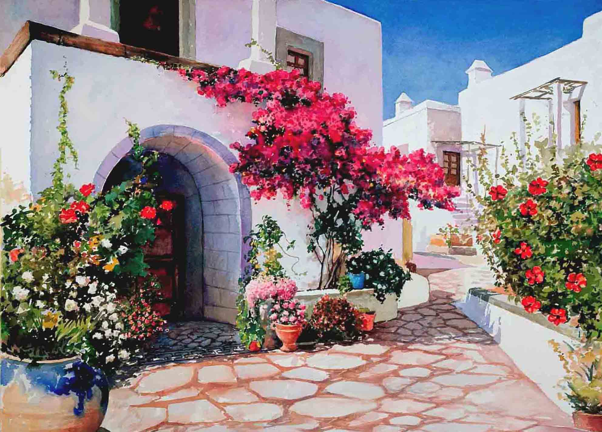 Cross Stitch Corner Diamond Painting Artibalta Greek Street