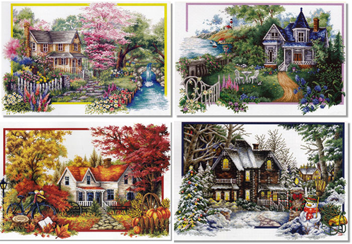 Cross Stitch Corner | CSC Premium Season Saga 3 - Set of all 4 Seasons  Cross Stitch Kits
