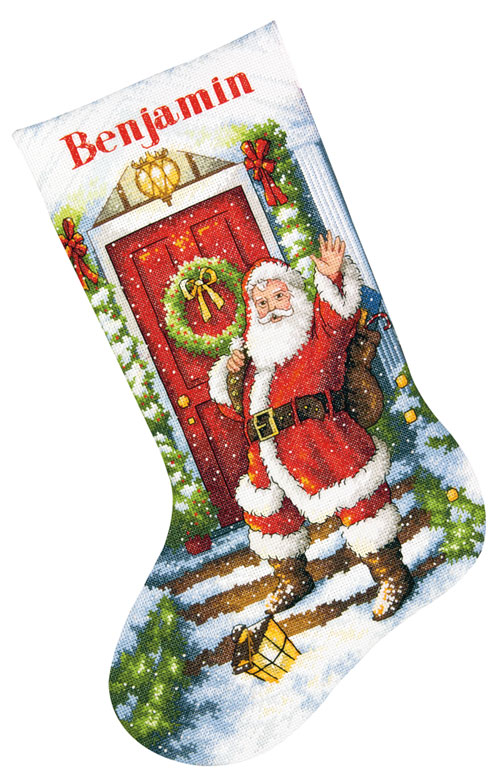 Snow Bears Counted Cross Stitch Kit Stocking D70-08902 Dimensions
