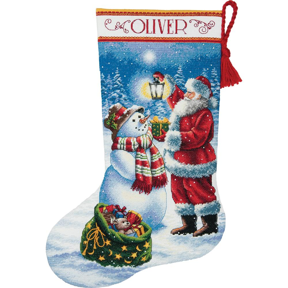 Dimensions Christmas Stocking Kits.Dimensions Gold Collection Glow Stocking