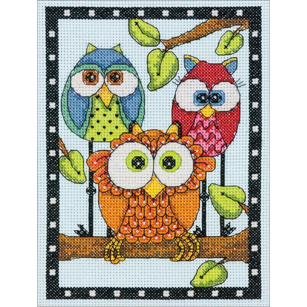 Cross Stitch Corner | Dimensions - Owl Trio Mini